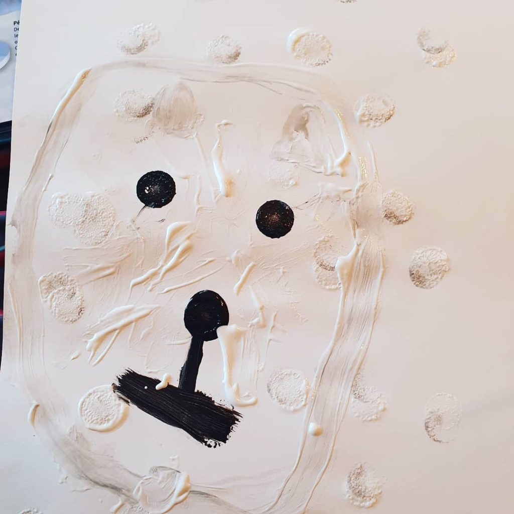 Peinture ours polaire